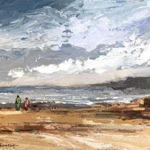 Painting about being at the sea