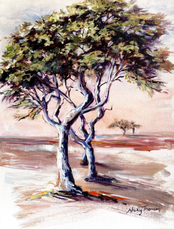 Painting about bushveld trees