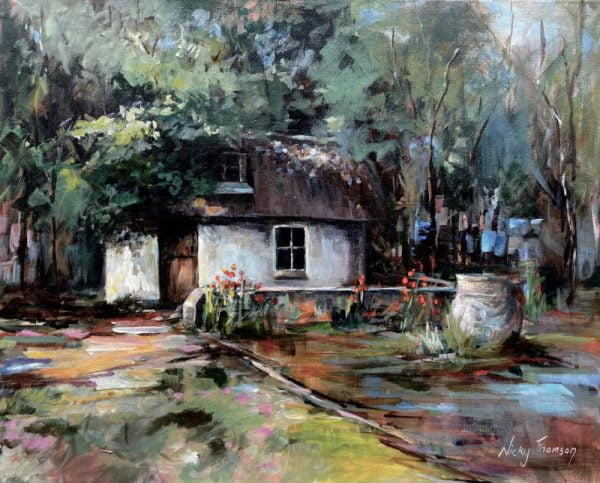 Painting about a country cottage